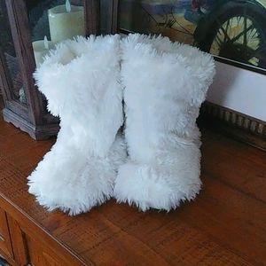 White fluffy slipper